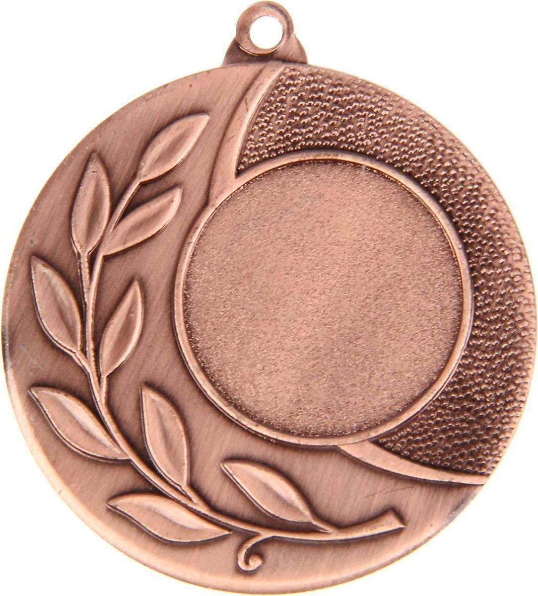 Медаль сувенирная с местом для гравировки, цвет: бронзовый, диаметр 4,5 см. 0281108708Медаль — знак отличия, которым награждают самых достойных. Она вручается лишь тем, кто проявил настойчивость и волю к победе. Каждое достижение — это важное событие, которое должно остаться в памяти на долгие годы. Любое спортивное состязание, профессиональное или среди любителей, любое корпоративное мероприятие — отличный повод для того, чтобы отметить лучших из лучших. Характеристики:Диаметр медали: 4,5 см Диаметр вкладыша (лицо): 2,5 см Диаметр вкладыша (оборот): 4 см. Пусть любая победа будет отмечена соответствующей наградой!