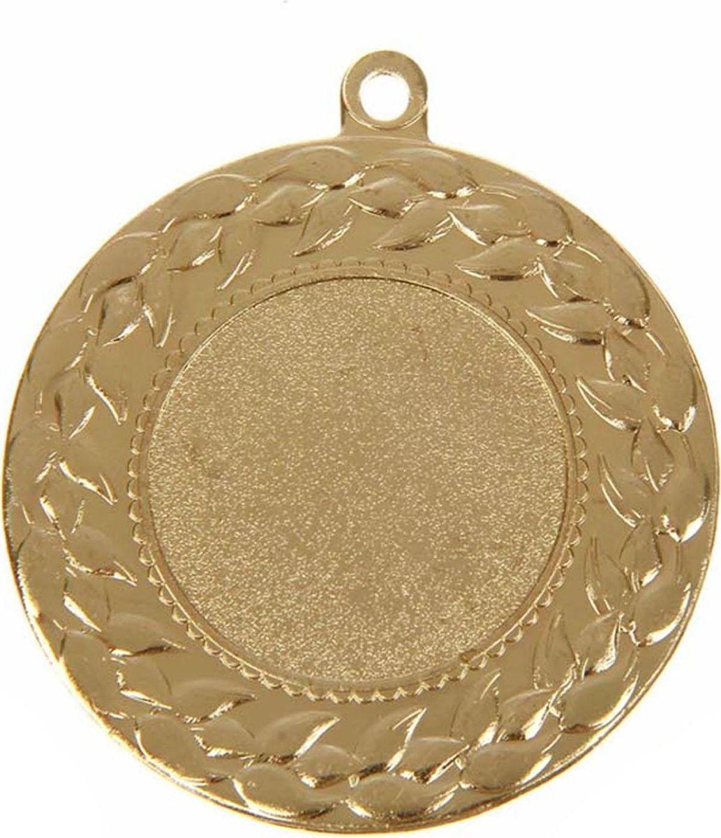 Медаль сувенирная с местом для гравировки, цвет: золотистый, диаметр 4,5 см. 0291108712Медаль — знак отличия, которым награждают самых достойных. Она вручается лишь тем, кто проявил настойчивость и волю к победе. Каждое достижение — это важное событие, которое должно остаться в памяти на долгие годы. Любое спортивное состязание, профессиональное или среди любителей, любое корпоративное мероприятие — отличный повод для того, чтобы отметить лучших из лучших. Характеристики:Диаметр медали: 4,5 см Диаметр вкладыша (лицо): 2,5 см Диаметр вкладыша (оборот): 4 см. Пусть любая победа будет отмечена соответствующей наградой!