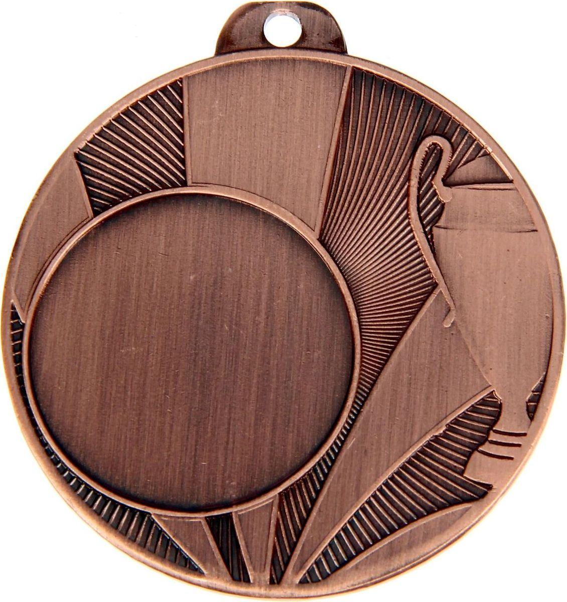 Медаль сувенирная с местом для гравировки, цвет: бронзовый, диаметр 4,5 см. 0361253538Медаль — знак отличия, которым награждают самых достойных. Она вручается лишь тем, кто проявил настойчивость и волю к победе. Каждое достижение — это важное событие, которое должно остаться в памяти на долгие годы. Любое спортивное состязание, профессиональное или среди любителей, любое корпоративное мероприятие — отличный повод для того, чтобы отметить лучших из лучших. Характеристики:Диаметр медали: 4,5 см Диаметр вкладыша (лицо): 2,5 см Диаметр вкладыша (оборот): 4 см. Пусть любая победа будет отмечена соответствующей наградой!