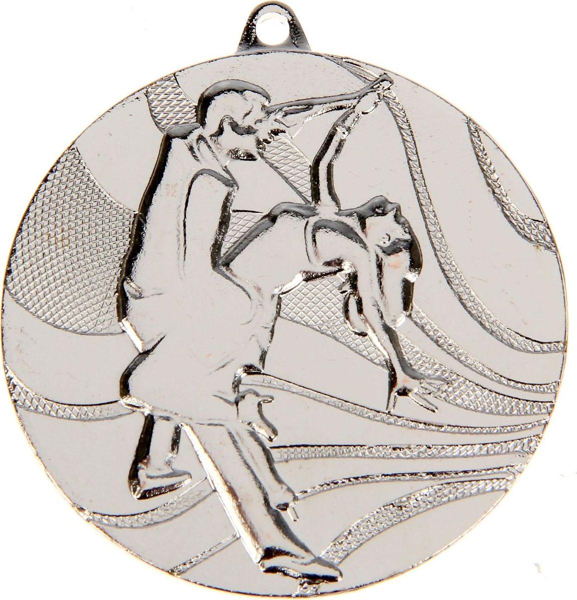 Медаль сувенирная Танцы, цвет: серебристый, диаметр 5 см. 0751253549Заслуженный приз! Долгие изнурительные тренировки, напряжение перед соревнованием… Наконец ты вышел и показал всё, на что способен. И вот она — победа! — награда для настоящего чемпиона. Пусть каждый видит, кому именно сегодня покорился пьедестал. Блестящая награда на груди станет лучшим ответом скептикам и всегда будет напоминать, что упорный труд непременно вознаграждается. Наступит завтрашний день, и своё лидерство нужно будет доказывать заново. Ну а пока победитель сможет наслаждаться триумфом, глядя на эту медаль.Характеристики: Диаметр медали: 5 см Диаметр вкладыша (оборот): 4,5 см. Сверху расположено отверстие для крепления ленты.