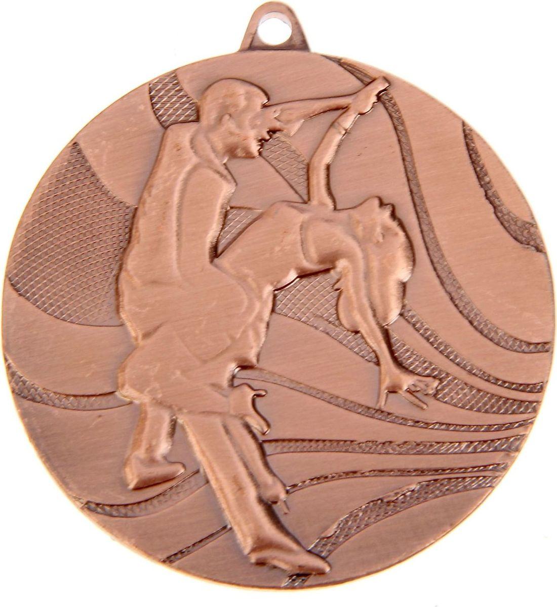 Медаль сувенирная Танцы, цвет: бронзовый, диаметр 5 см. 0751253550Заслуженный приз! Долгие изнурительные тренировки, напряжение перед соревнованием… Наконец ты вышел и показал всё, на что способен. И вот она — победа! — награда для настоящего чемпиона. Пусть каждый видит, кому именно сегодня покорился пьедестал. Блестящая награда на груди станет лучшим ответом скептикам и всегда будет напоминать, что упорный труд непременно вознаграждается. Наступит завтрашний день, и своё лидерство нужно будет доказывать заново. Ну а пока победитель сможет наслаждаться триумфом, глядя на эту медаль.Характеристики: Диаметр медали: 5 см Диаметр вкладыша (оборот): 4,5 см. Сверху расположено отверстие для крепления ленты.