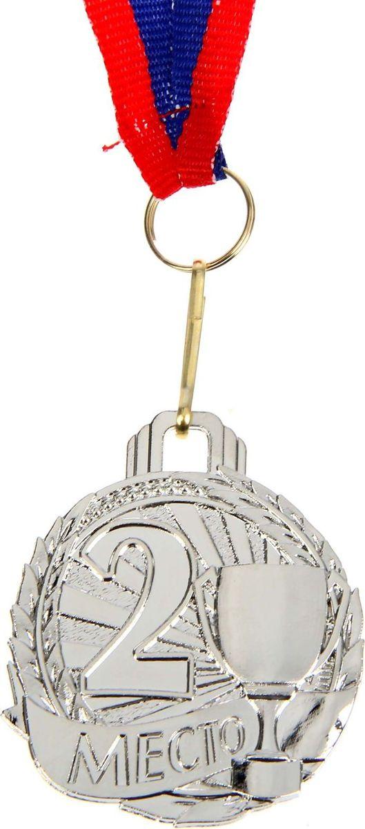 Медаль сувенирная 2 место, цвет: серебристый, диаметр 4,6 см. 0361305184Медаль вручается тем, кто проявил настойчивость и волю к победе. Каждый триумф, каждое достижение — это событие, которое должно оставаться в памяти на долгие годы. Любое спортивное состязание, профессиональное или среди любителей, а также корпоративное мероприятие — отличный повод для того, чтобы отметить лучших. Призовая медаль за 2 место изготовлена из металла серебряного цвета.