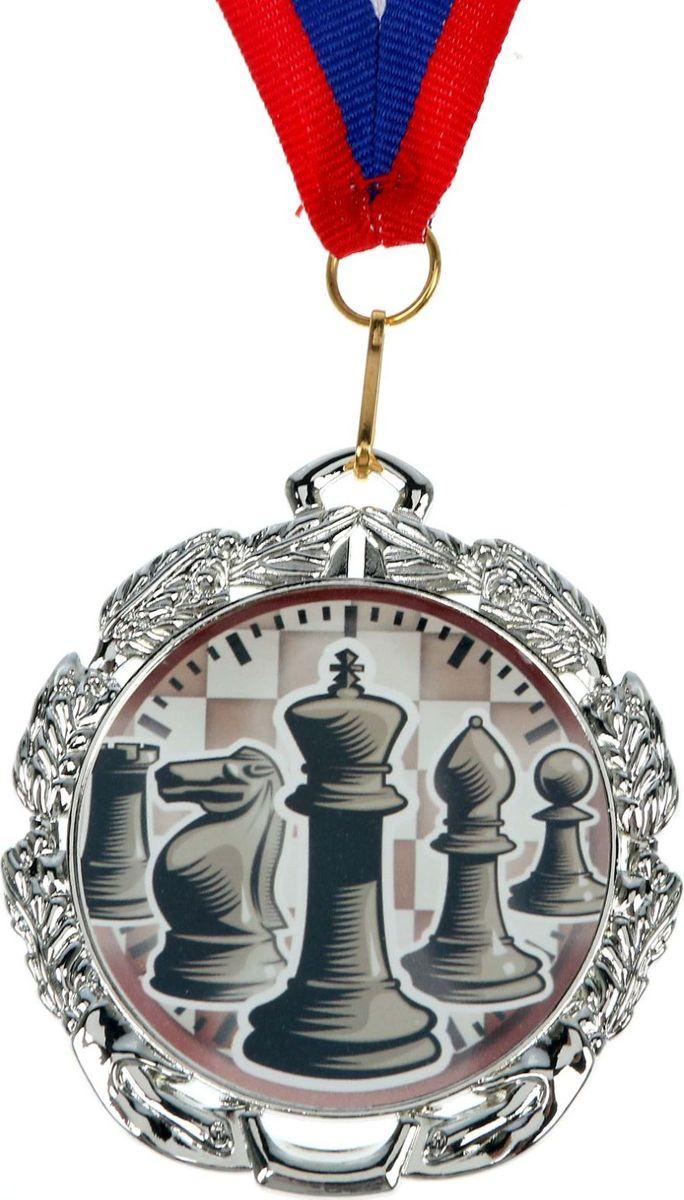 Медаль сувенирная Шахматы, цвет: серебристый, диаметр 6,5 см. 0471371155Заслуженный приз! Долгие изнурительные тренировки, напряжение перед соревнованием… Наконец ты вышел и показал всё, на что способен. И вот она — победа! — награда для настоящего чемпиона. Пусть каждый видит, кому именно сегодня покорился пьедестал. Блестящая награда на груди станет лучшим ответом скептикам и всегда будет напоминать, что упорный труд непременно вознаграждается. Наступит завтрашний день, и своё лидерство нужно будет доказывать заново. Ну а пока победитель сможет наслаждаться триумфом, глядя на эту медаль.Характеристики: Диаметр медали: 6,5 см Диаметр вкладыша (оборот): 4,8 см Ширина ленты: 2 см.