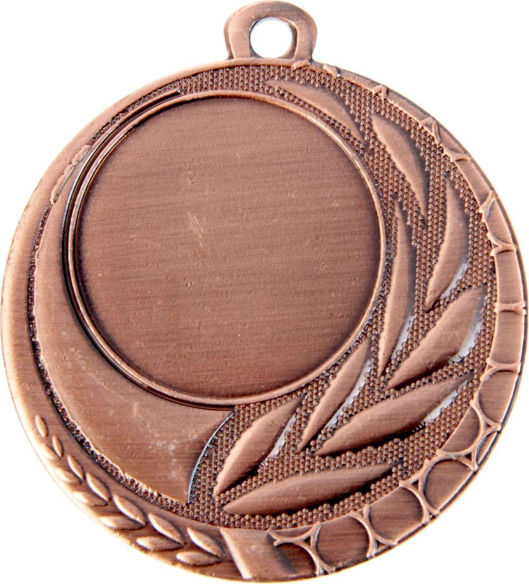 Медаль сувенирная с местом для гравировки, цвет: бронзовый, диаметр 5 см. 0421387690Пусть любая победа будет отмечена соответствующей наградой! Медаль — знак отличия, которым награждают самых достойных. Она вручается лишь тем, кто проявил настойчивость и волю к победе. Каждое достижение — это важное событие, которое должно остаться в памяти на долгие годы. изготовлена из металла, в комплект входит лента цвета триколор, являющегося одним из государственных символов России. Характеристики: Диаметр медали: 5 см Диаметр вкладыша (лицо): 2,5 см Диаметр вкладыша (оборот): 4 см