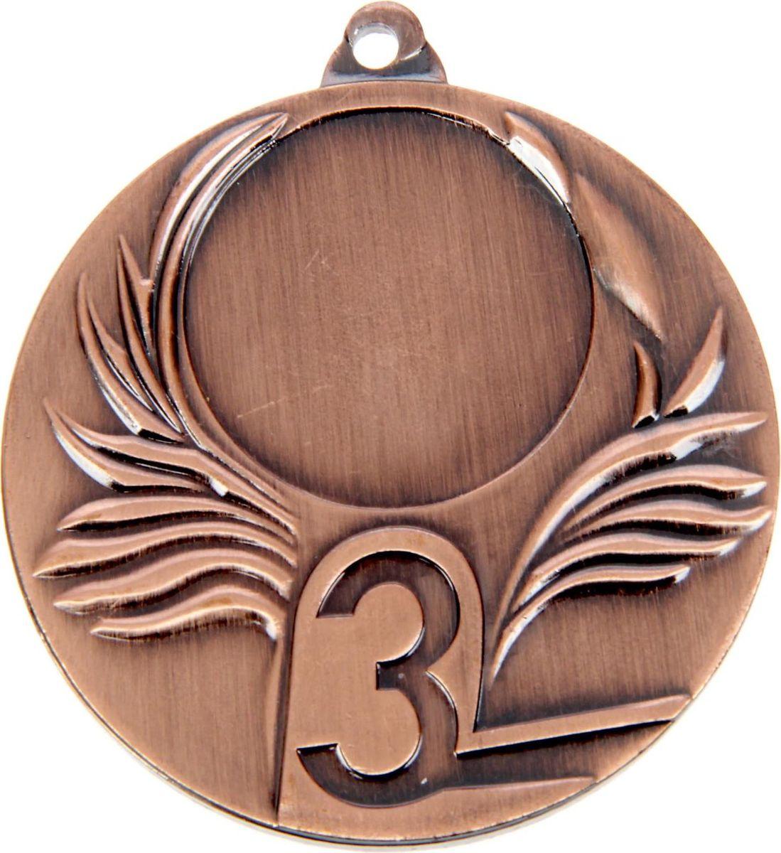 Медаль сувенирная 3 место, цвет: бронзовый, диаметр 5 см. 0381387705Невозможно представить нашу жизнь без праздников! Мы всегда ждём их и предвкушаем, обдумываем, как проведём памятный день, тщательно выбираем подарки и аксессуары, ведь именно они создают и поддерживают торжественный настрой. Это отличный выбор, который привнесёт атмосферу праздника в ваш дом!