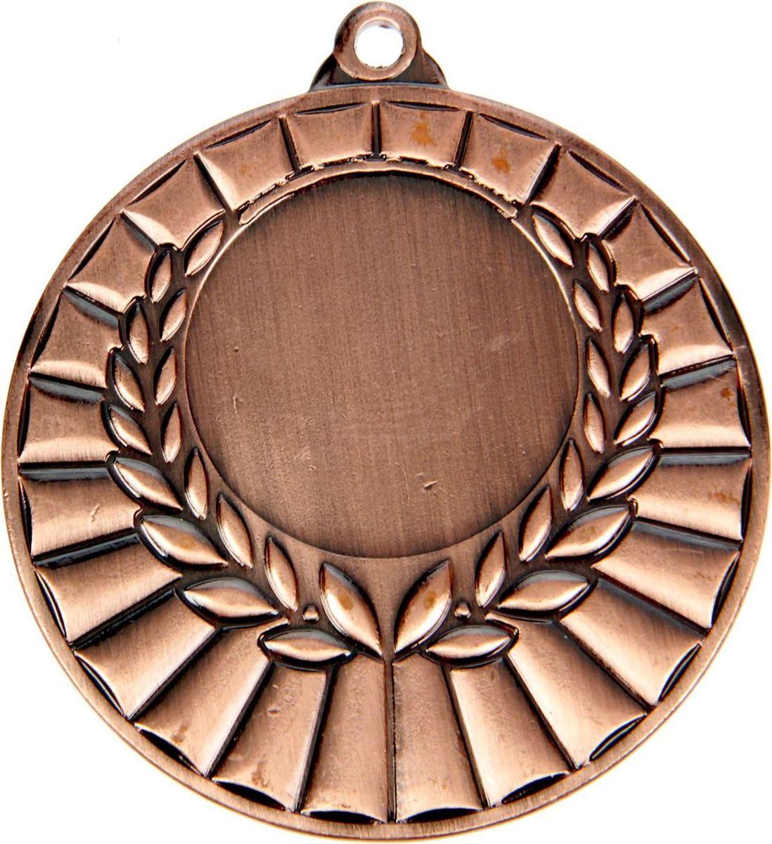Медаль сувенирная с местом для гравировки, цвет: бронзовый, диаметр 5 см. 0471387711Пусть любая победа будет отмечена соответствующей наградой! Медаль — знак отличия, которым награждают самых достойных. Она вручается лишь тем, кто проявил настойчивость и волю к победе. Каждое достижение — это важное событие, которое должно остаться в памяти на долгие годы. изготовлена из металла, в комплект входит лента цвета триколор, являющегося одним из государственных символов России. Характеристики: Диаметр медали: 5 см Диаметр вкладыша (лицо): 2,5 см Диаметр вкладыша (оборот): 4,5 см