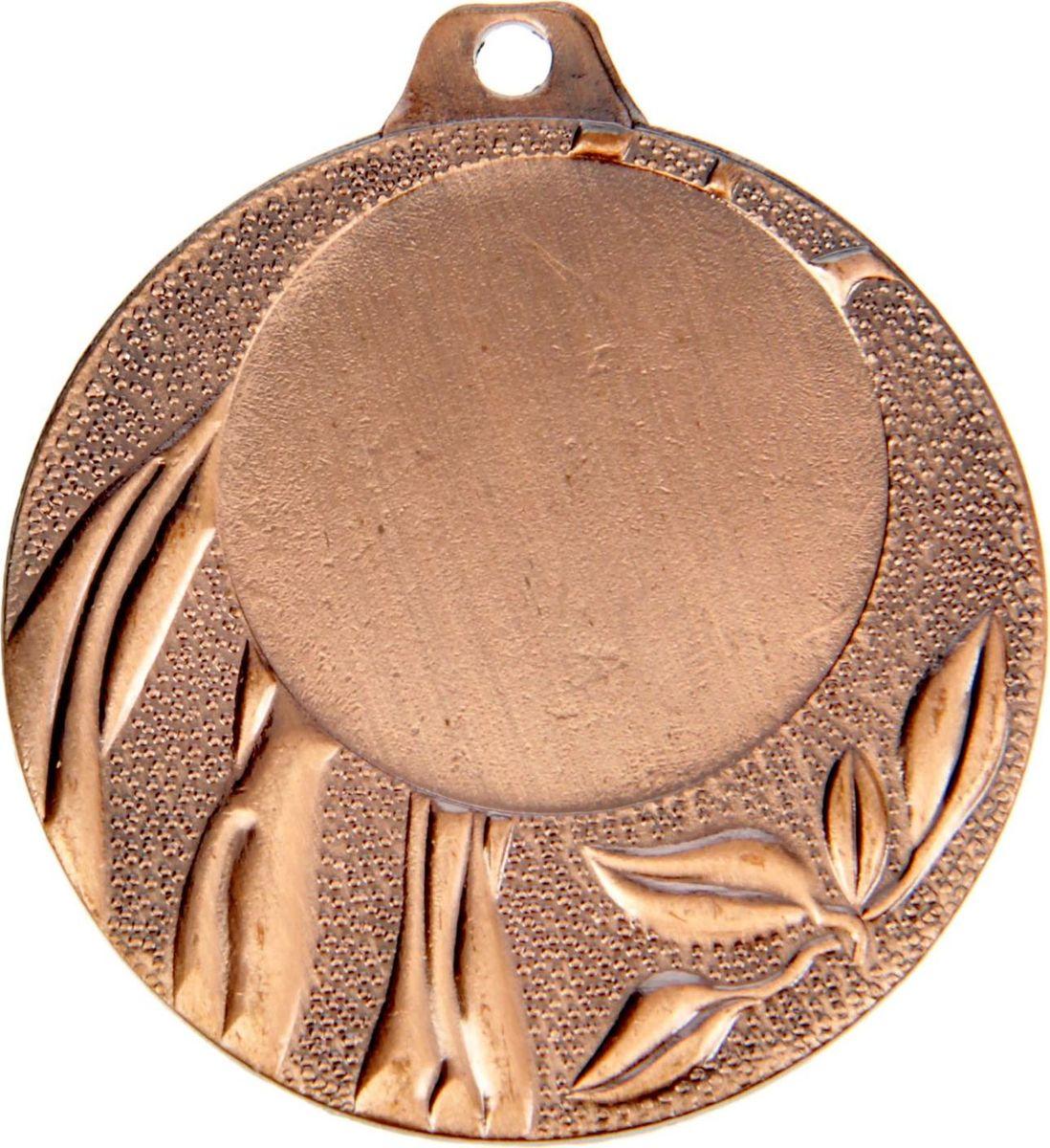Медаль сувенирная с местом для гравировки, цвет: бронзовый, диаметр 4 см. 0491387717Пусть любая победа будет отмечена соответствующей наградой! Медаль — знак отличия, которым награждают самых достойных. Она вручается лишь тем, кто проявил настойчивость и волю к победе. Каждое достижение — это важное событие, которое должно остаться в памяти на долгие годы. изготовлена из металла, в комплект входит лента цвета триколор, являющегося одним из государственных символов России. Характеристики: Диаметр медали: 4 см Диаметр вкладыша (лицо): 2,5 см Диаметр вкладыша (оборот): 3,5 см