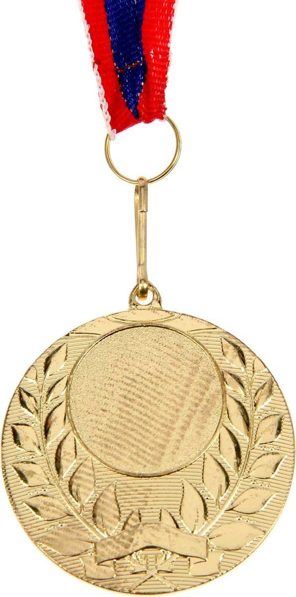 Медаль сувенирная с местом для гравировки, цвет: золотистый, диаметр 5 см. 0571510630Медаль — знак отличия, которым награждают самых достойных. Она вручается лишь тем, кто проявил настойчивость и волю к победе. Каждое достижение — это важное событие, которое должно остаться в памяти на долгие годы. Любое спортивное состязание, профессиональное или среди любителей, любое корпоративное мероприятие — отличный повод для того, чтобы отметить лучших из лучших. Характеристики:Диаметр медали: 5 см Диаметр вкладыша (лицо): 2,5 см Диаметр вкладыша (оборот): 4,5 см. Ширина ленты: 2,2 см. Пусть любая победа будет отмечена соответствующей наградой!