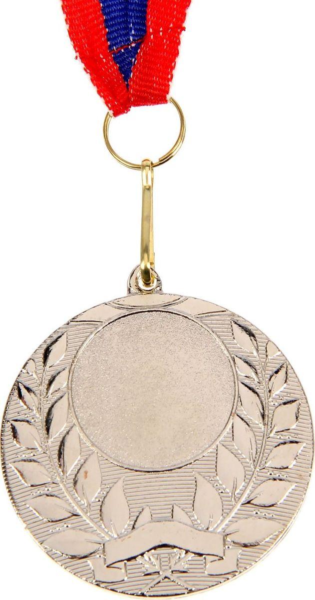 Медаль сувенирная с местом для гравировки, цвет: серебристый, диаметр 5 см. 0571510631Медаль — знак отличия, которым награждают самых достойных. Она вручается лишь тем, кто проявил настойчивость и волю к победе. Каждое достижение — это важное событие, которое должно остаться в памяти на долгие годы. Любое спортивное состязание, профессиональное или среди любителей, любое корпоративное мероприятие — отличный повод для того, чтобы отметить лучших из лучших. Характеристики:Диаметр медали: 5 см Диаметр вкладыша (лицо): 2,5 см Диаметр вкладыша (оборот): 4,5 см. Ширина ленты: 2,2 см. Пусть любая победа будет отмечена соответствующей наградой!
