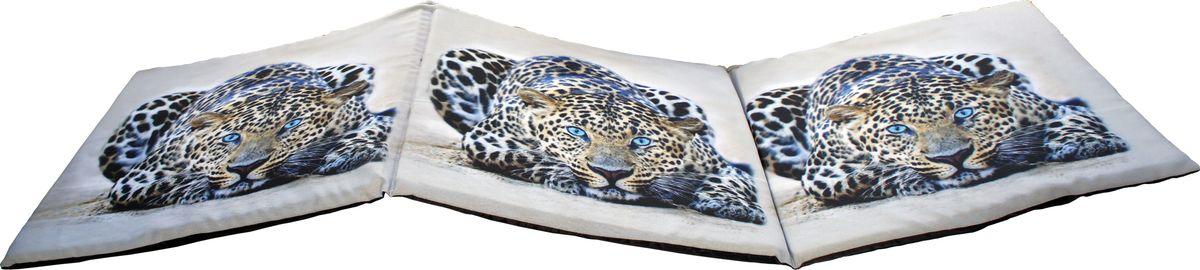 Матрас для шезлонга GiftnHome Leo, 40 х 120 смSEAT-3 LeoСидушка лежак Леопард, 3х секционный на поролоновой основе, низ: плащевой материал верх: габардин