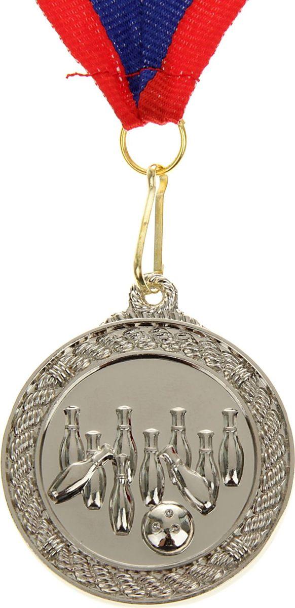 Медаль сувенирная Боулинг, цвет: серебристый, диаметр 4,5 см. 007506957Медаль — знак отличия, которым награждают самых достойных. Она вручается лишь тем, кто проявил настойчивость и волю к победе. Каждое достижение — это важное событие, которое должно остаться в памяти на долгие годы. Медаль тематическая Боулинг d=4,5 см, цвет серебро изготовлена из металла, в комплект входит лента цвета триколор, являющегося одним из государственных символов России.Характеристики:Диаметр медали: 4,5 см Диаметр вкладыша (оборот): 3,5 см Ширина ленты: 2,5 см.