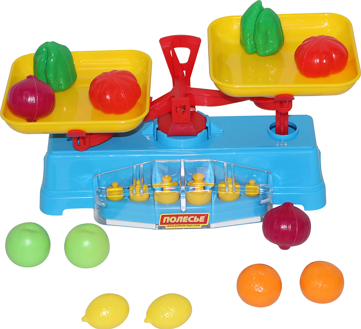 Полесье Игровой набор Весы и набор продуктов 12 элементов полесье полесье игровой набор садовый