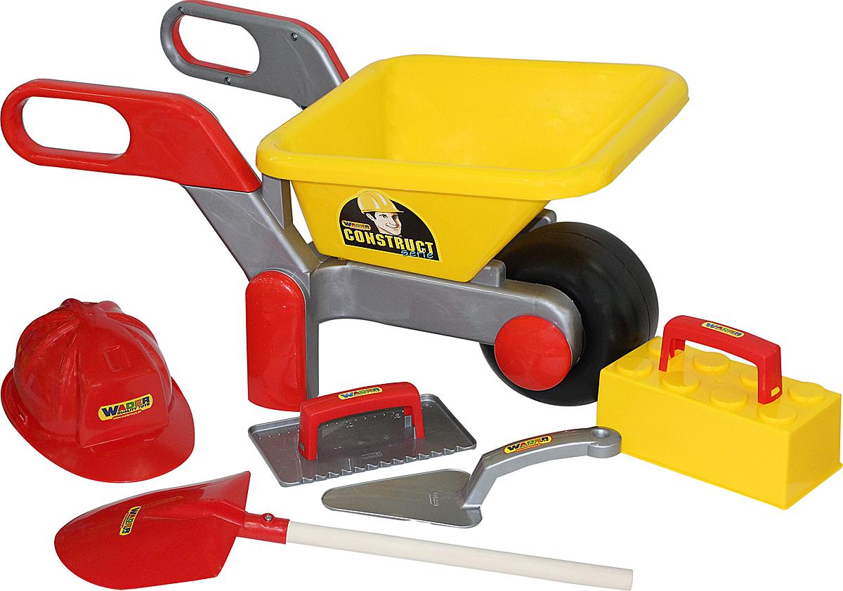 Полесье Игровой набор Каменщик №4 Construct и Тачка №4 Construct - Сюжетно-ролевые игрушки