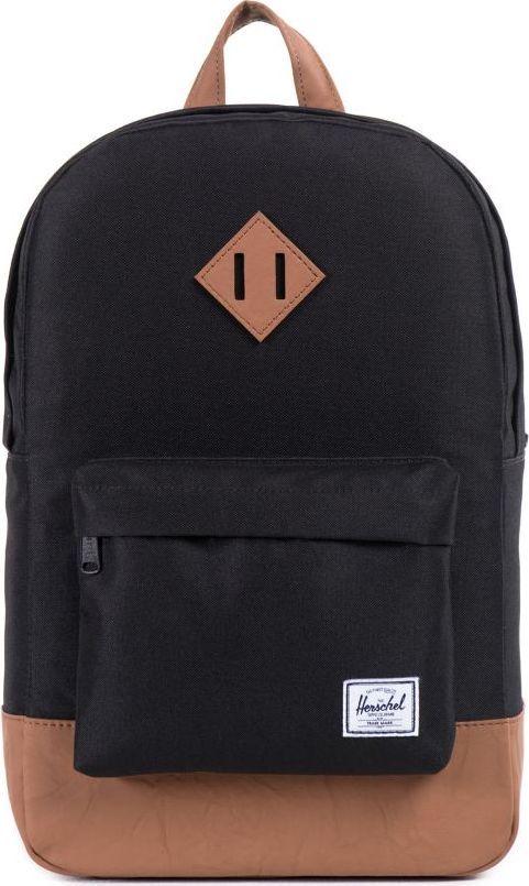 Рюкзак городской Herschel Heritage Mid-Volume, цвет: черный, светло-коричневый, 14,5 л. 10019-00001-OS купить herschel