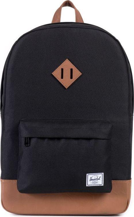 Рюкзак городской Herschel Heritage, цвет: черный, светло-коричневый, 21,5 л. 10007-00055-OS рюкзак городской herschel settlement цвет светло зеленый черный 23 л 10005 01555 os