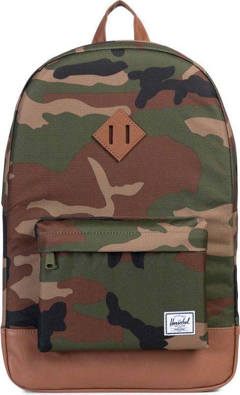 Рюкзак городской Herschel Heritage, цвет: камуфляж, светло-коричневый, 21,5 л. 10007-00032-OS рюкзак городской herschel settlement цвет светло зеленый черный 23 л 10005 01555 os