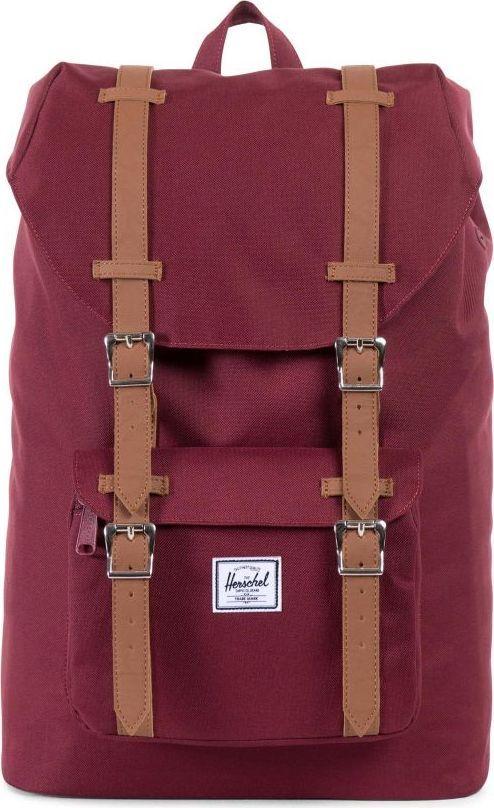 Рюкзак городской Herschel America Mid-Volume, цвет: бордовый, светло-коричневый, 17 л. 10020-00746-OS10020-00746-OSУменьшенная копия легендарного рюкзакаLittle America - идеальный городской рюкзак, который отлично подойдет для учебы, работы или небольших путешествий. Удобный, практичный, стильный - все выполнено в лучших традициях качества Herschel!