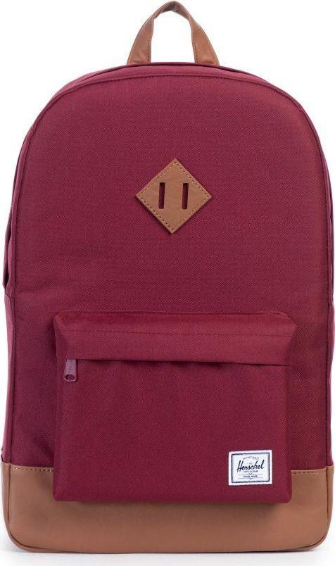Рюкзак городской Herschel Heritage, цвет: бордовый, светло-коричневый, 21,5 л. 10007-00746-OS купить herschel