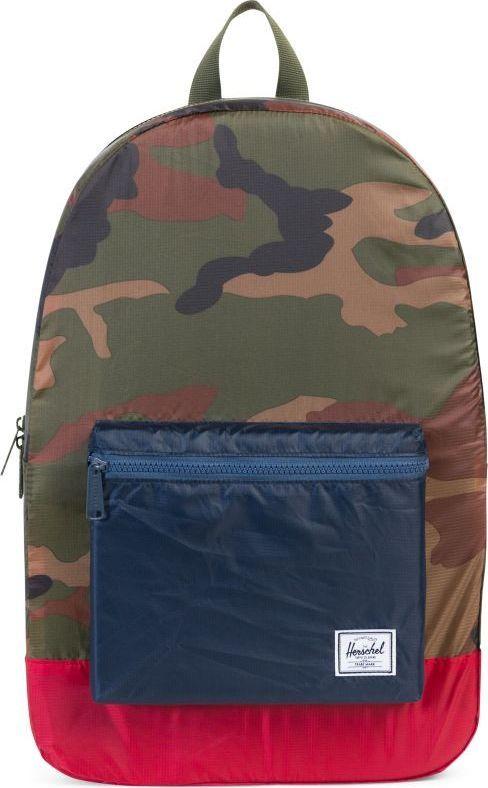 Рюкзак городской Herschel Packable Daypack, цвет: камуфляж, синий, красный, 24,5 л. 10076-01411-OS рюкзак городской herschel settlement цвет светло зеленый черный 23 л 10005 01555 os