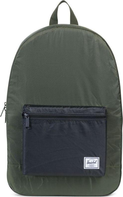 Рюкзак городской Herschel Packable Daypack, цвет: хаки, черный, 24,5 л. 10076-01592-OS рюкзак городской herschel settlement цвет светло зеленый черный 23 л 10005 01555 os