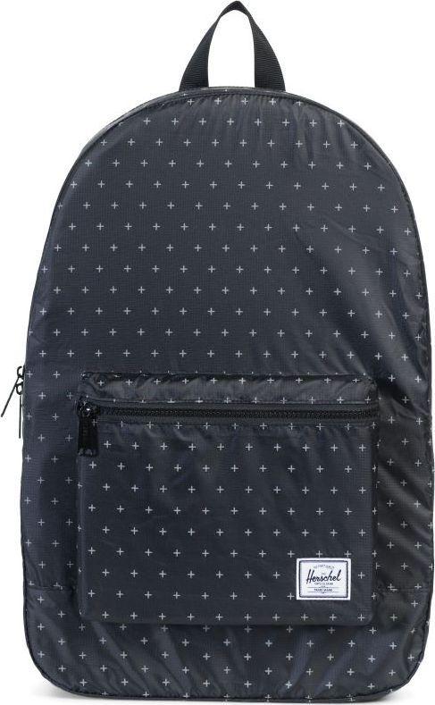 Рюкзак городской Herschel Packable Daypack, цвет: черный, белый, 24,5 л. 10076-01595-OS рюкзак городской herschel settlement цвет светло зеленый черный 23 л 10005 01555 os
