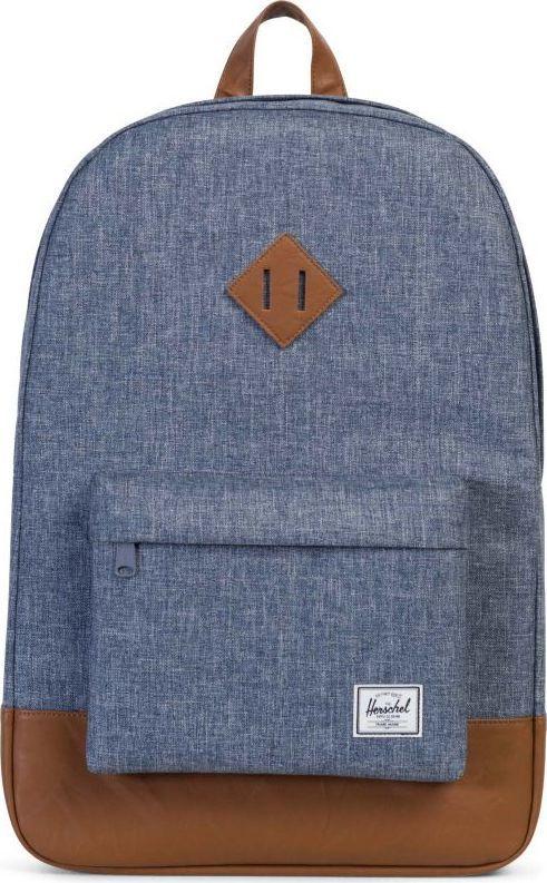 Рюкзак городской Herschel Heritage, цвет: серый, светло-коричневый, 21,5 л. 10007-01570-OS рюкзак городской herschel packable daypack цвет серый черный 24 5 л 10076 01413 os