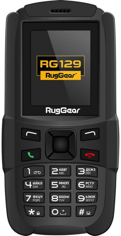 RugGear RG129, Black защищенный смартфон ruggear rg 500