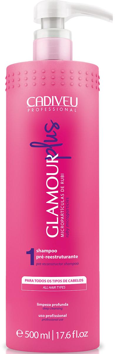 Cadiveu Шампунь подготавливающий Glamour Plus 500 млPA0091Подготовительный шампунь-подготавливает волосы к процедуре разглаживания Glamour Plus.