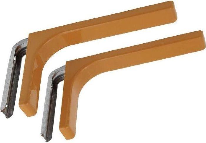 Консоль Tech-Krep, с декоративной накладкой, цвет: бежевый, длина 12 см129947Консоль Tech-Krep изготовлена из металла и оформлена пластиковой декоративной накладкой. Консоль устанавливается на мебель и предназначено для поддержки деревянных полок. Изделие послужит украшением и необычным элементом дизайна вашего интерьера. С внутренней длинной стороны консоли имеются два отверстия для крепления.Размер: 12 х 7,5 х 2,5 см.