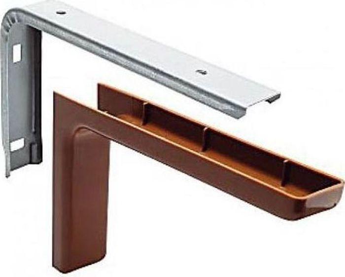 Консоль Tech-KREP, с декоративной накладкой, цвет: коричневый, длина 24 см129959Консоль Tech-KREP изготовлена из металла и оформлена пластиковой декоративной накладкой. Консоль устанавливается на мебель и предназначено для поддержки деревянных полок. Изделие послужит украшением и стильным элементом дизайна вашего интерьера. С внутренней стороны консоли имеются отверстия для крепления. Размер: 24 х 14 х 3,5 см.
