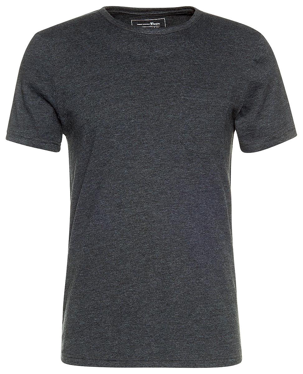 Футболка мужская Tom Tailor, цвет: черный. 1038258.09.12_2999. Размер L (50)