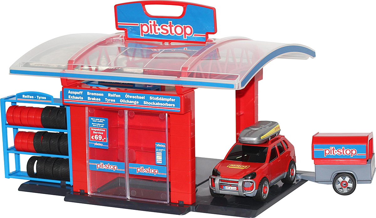 Полесье Игровой набор Тюнинг-центр Pit-Stop №1 - Транспорт, машинки