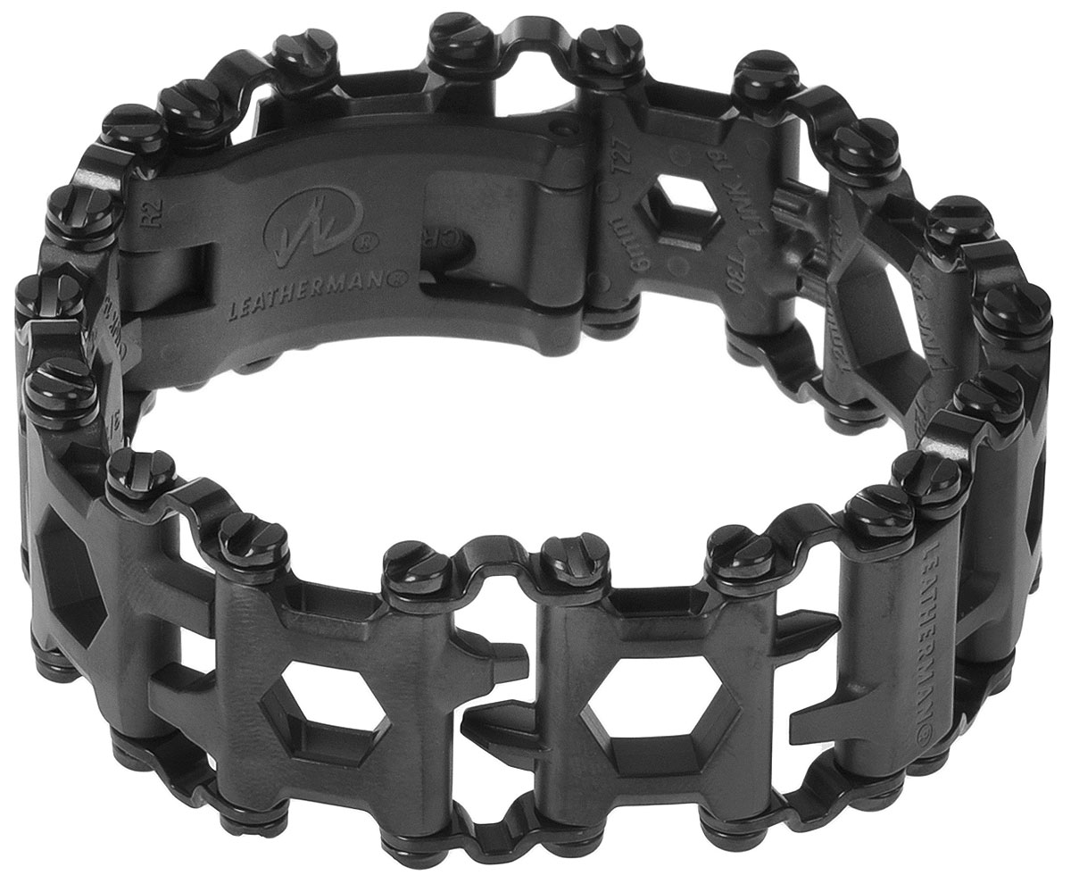 Браслет Leatherman Tread, цвет: черный, 29 функций832324_черныйСтильный браслет Leatherman Tread включает в себя 29 функций, в число которых входят различные отвертки, открывалка и другие инструменты. Размер браслета регулируется при помощи установки или снятия звеньев.Функции:Крестовая отвертка (Phillips) №1-2.Накидной гаечный ключ 1/4.Плоская отвертка 3/16.6 мм шестигранник (Hex Drive).Накидной гаечный ключ 10 мм.5 мм шестигранник (Hex Drive).1/4 шестигранник (Hex Drive).Гаечный ключ для кислородного баллона.3/16 шестигранник (Hex Drive).1/8 шестигранник (Hex Drive).Накидной гаечный ключ 3/16.3/32 шестигранник (Hex Drive).Отвертка на 3/32.Отвертка на 1/8.4 мм шестигранник (Hex Drive).Накидной гаечный ключ 8 мм.3 мм шестигранник (Hex Drive).Плоская отвертка на 5/16.Накидной гаечный ключ 3/8.Плоская отвертка на 1/4.Крестовая отвертка (Phillips) #1.6 мм накидной гаечный ключ.Крестовая отвертка (Phillips) #2.Инструмент для разбивания стекла.Инструмент для вынимания сим-карты.Режущий крюк.Адаптер на 1/4.Открывалка для бутылок.Квадратная отвертка #2.