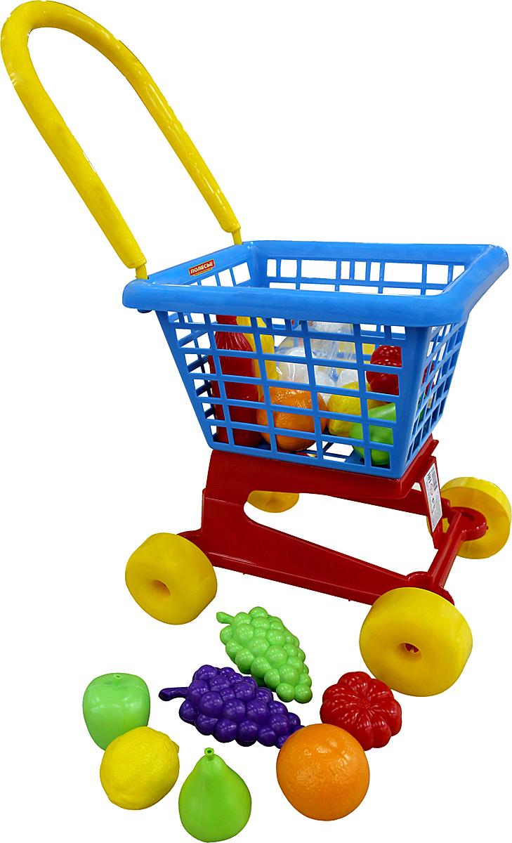 Полесье Игрушечная тележка Supermarket № 1 с набором продуктов