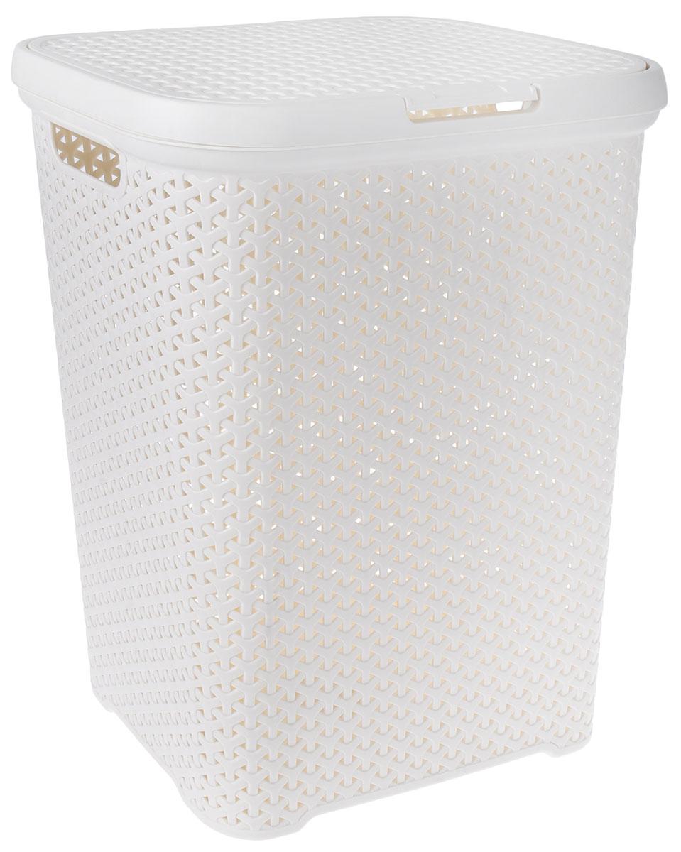 """Вместительная корзина для белья """"Magnolia Home"""" изготовлена из прочного пластика. Она  отлично подойдет для хранения белья перед стиркой. Специальные отверстия на стенках  создают идеальные условия для проветривания. Изделие оснащено крышкой и двумя ручками  для переноски. Такая корзина для белья прекрасно впишется в интерьер ванной комнаты.  Размер корзины: 33 х 43,5 х 55 см."""