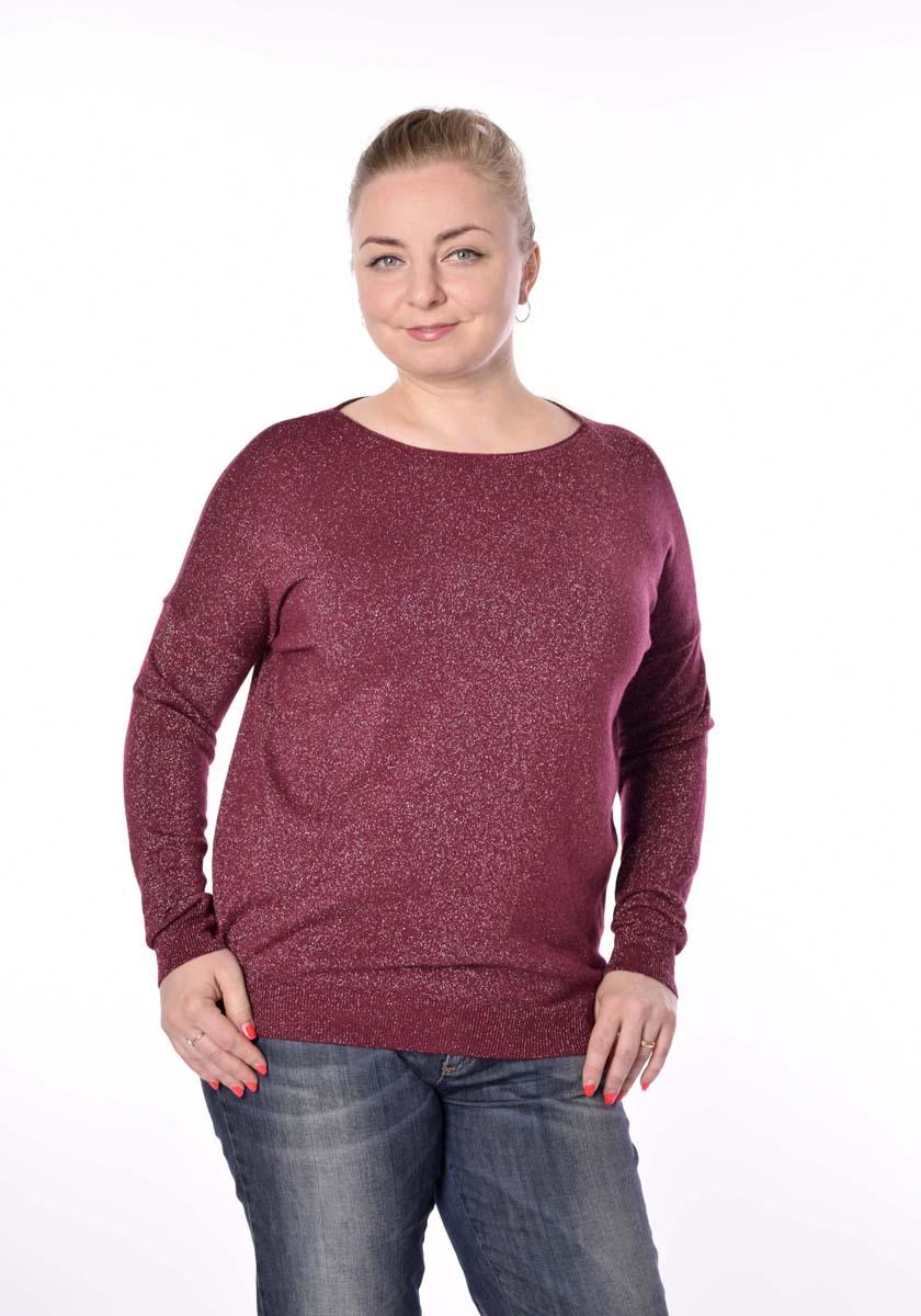 Джемпер женский Milanika, цвет: красный. 6627. Размер 46/486627Стильный вязаный джемпер от Milanika выполнен из пряжи сложного состава с люрексом. Модель прямого силуэта с длинными рукавами и круглым вырезом горловины.