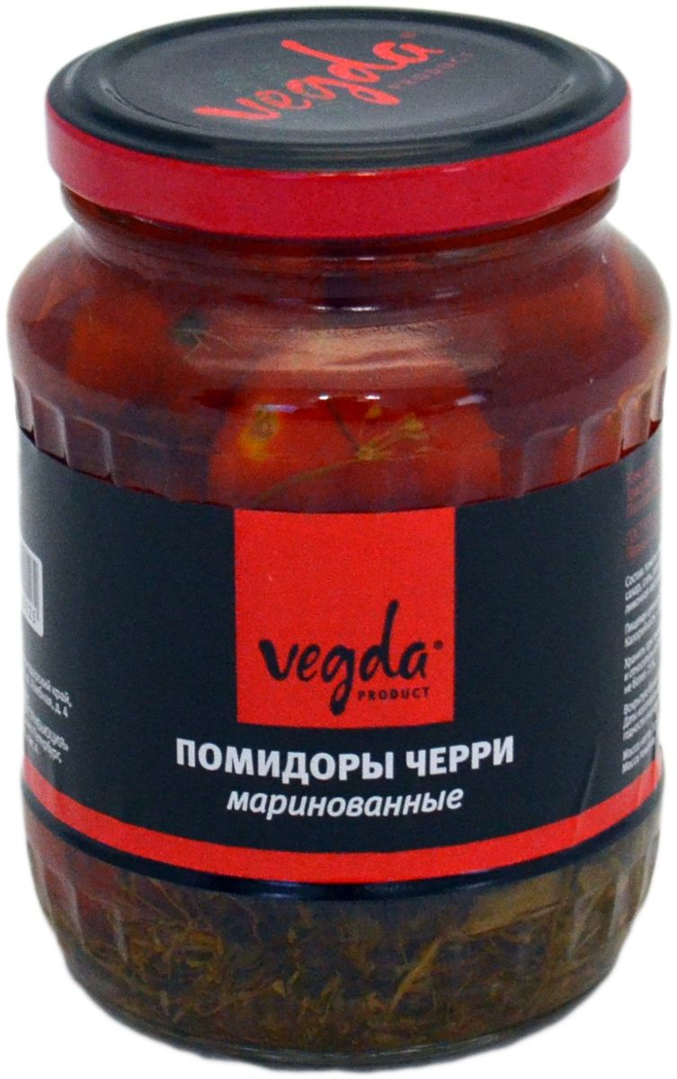 Vegda помидоры черри маринованные ГОСТ, 370 г