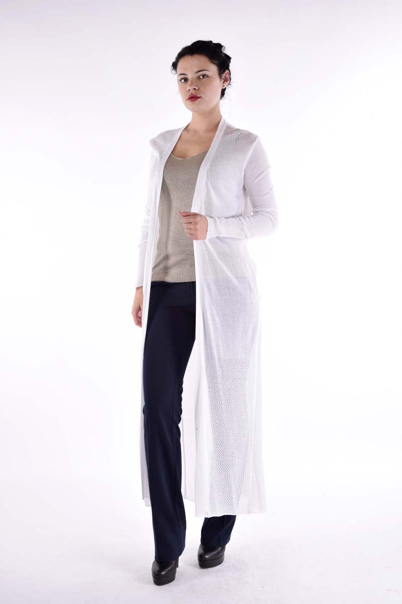 Кардиган женский Milanika, цвет: белый. 14487. Размер 50/52 женский кардиган 013a56