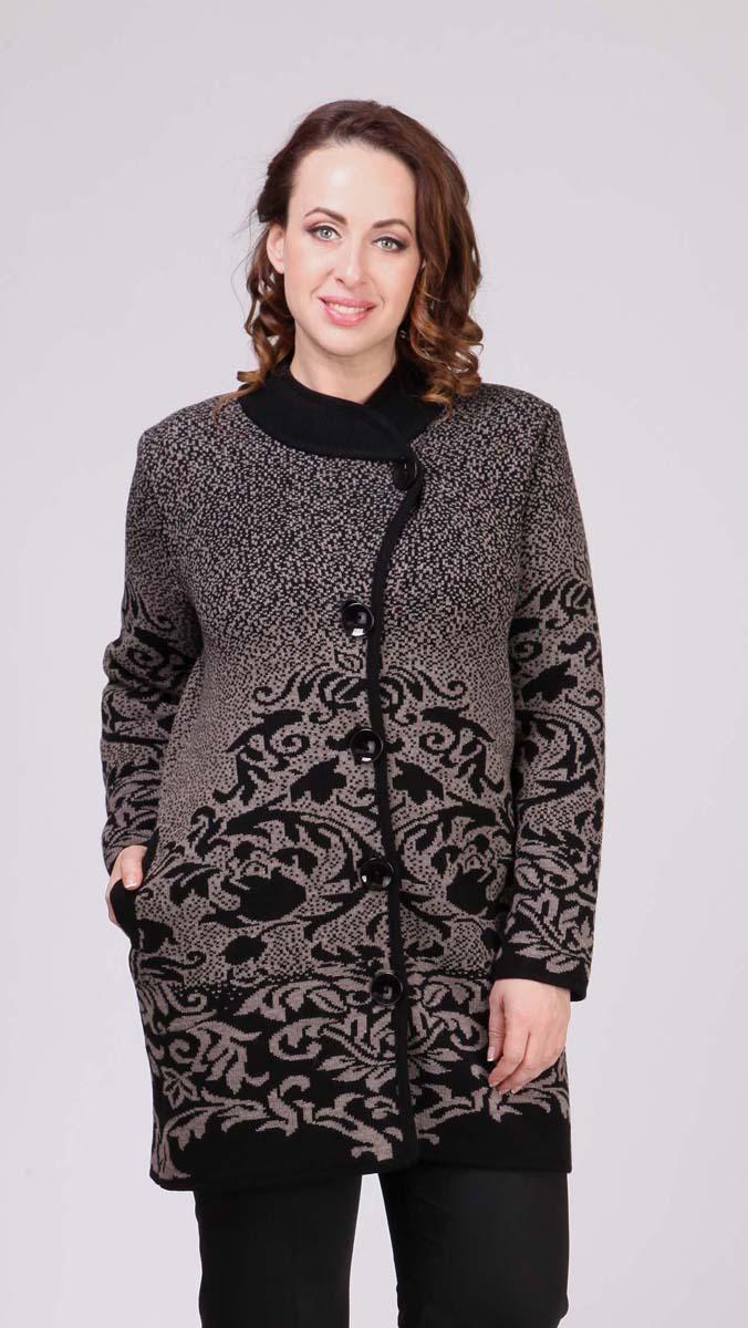 Кардиган женский Milana Style, цвет: темно-бежевый. 34359. Размер 60 кардиган milana style milana style mi038ewvvy52