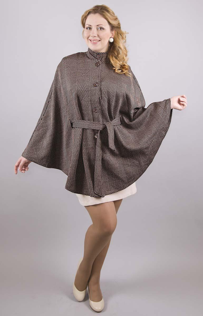 Пальто женское Milana Style, цвет: черный, белый. 1411. Размер 521411Пальто от Milana Style полуприлегающего силуэта с застежкой на пуговицы и длинными рукавами. Интересное жаккардовое переплетение создает геометрический узор.