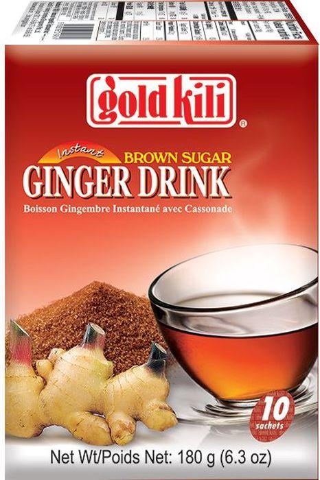 Gold Kili имбирный напиток с коричневым сахаром, 180 г8888296019454Жгучий, согревающий напиток, изготовленный из экстракта имбиря и коричневого сахара. Высокие стандарты производства и современные технологии позволяют сохранить естественный насыщенный природный вкус, аромат и полезные свойства имбиря. Напиток идеален в холодном и горячем виде в любое время года.Всё о чае: сорта, факты, советы по выбору и употреблению. Статья OZON Гид