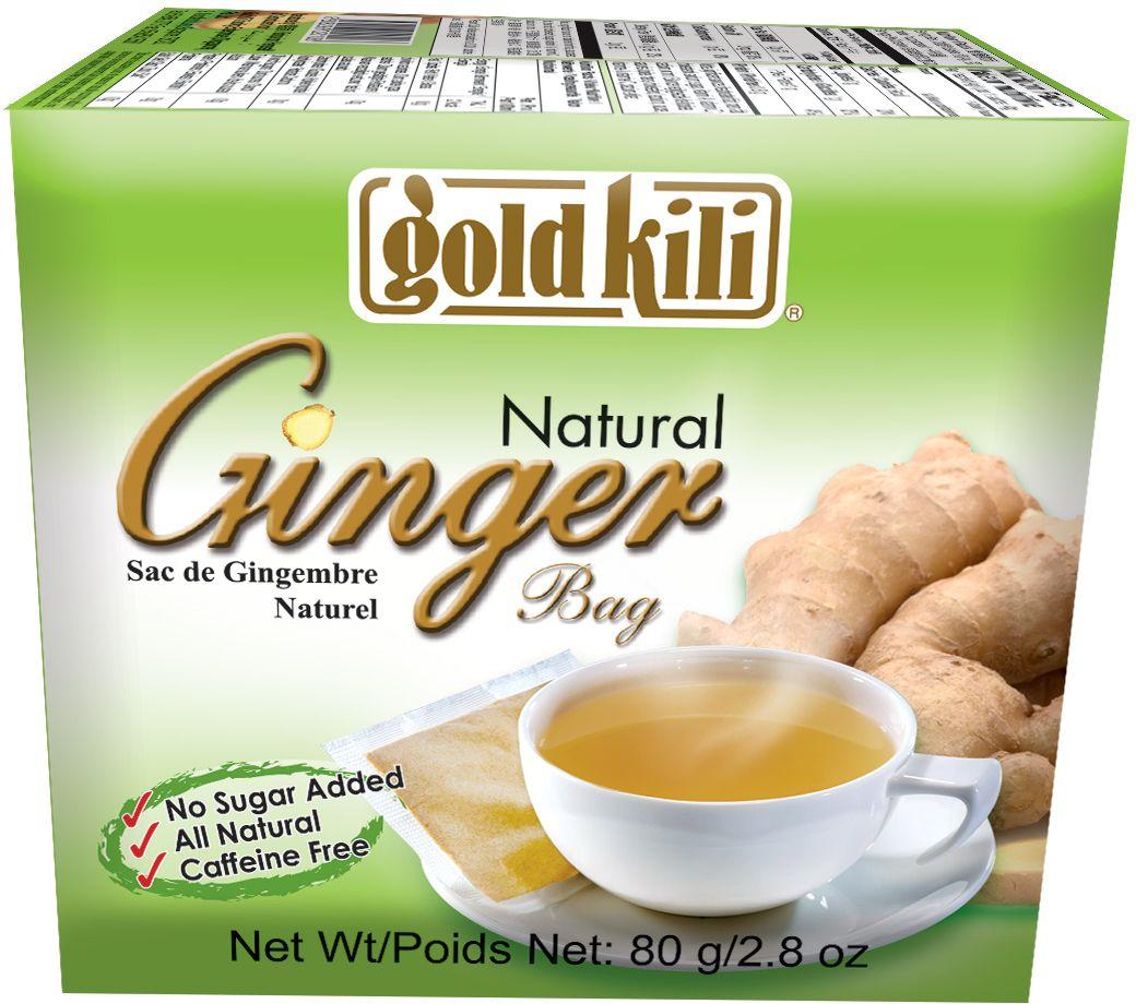 Gold Kili имбирь натуральный пакетированный, 80 г (20 саше) чай gold kili быстрорастворимый имбирный напиток с коричневым сахаром 180 г