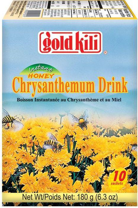 Gold Kili быстрорастворимый напиток хризантема с медом, 180 г чай gold kili быстрорастворимый имбирный напиток с коричневым сахаром 180 г