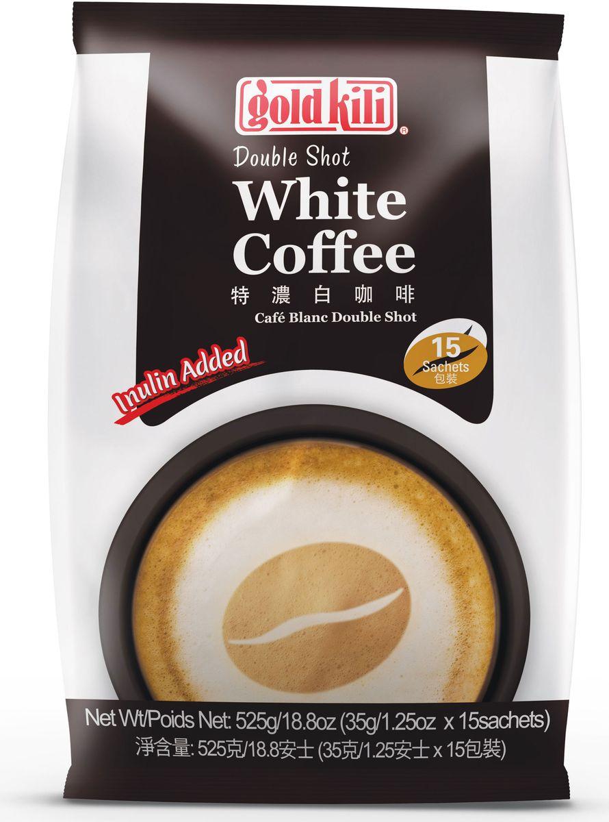 Gold Kili кофе дабл шот с инулином, 525 г (15 стик пакетов)8888296095151Кофе неповторимый во всем. Порция 35 г! И с инулином! Вкус сбалансированный, бархатистый, сливочный, плотный с оттенком какао. Инулин – может употребляться при сахарном диабете 1 и 2 типа, а также после длительных и тяжелых заболеваний, оперативного вмешательства, людям, проживающим в экологически неблагополучных местах и работающих на вредном производстве, а также пожилого возраста. Инулин успешно применяется для поддержки энергетического баланса при соблюдении строгих низкокалорийных диет.