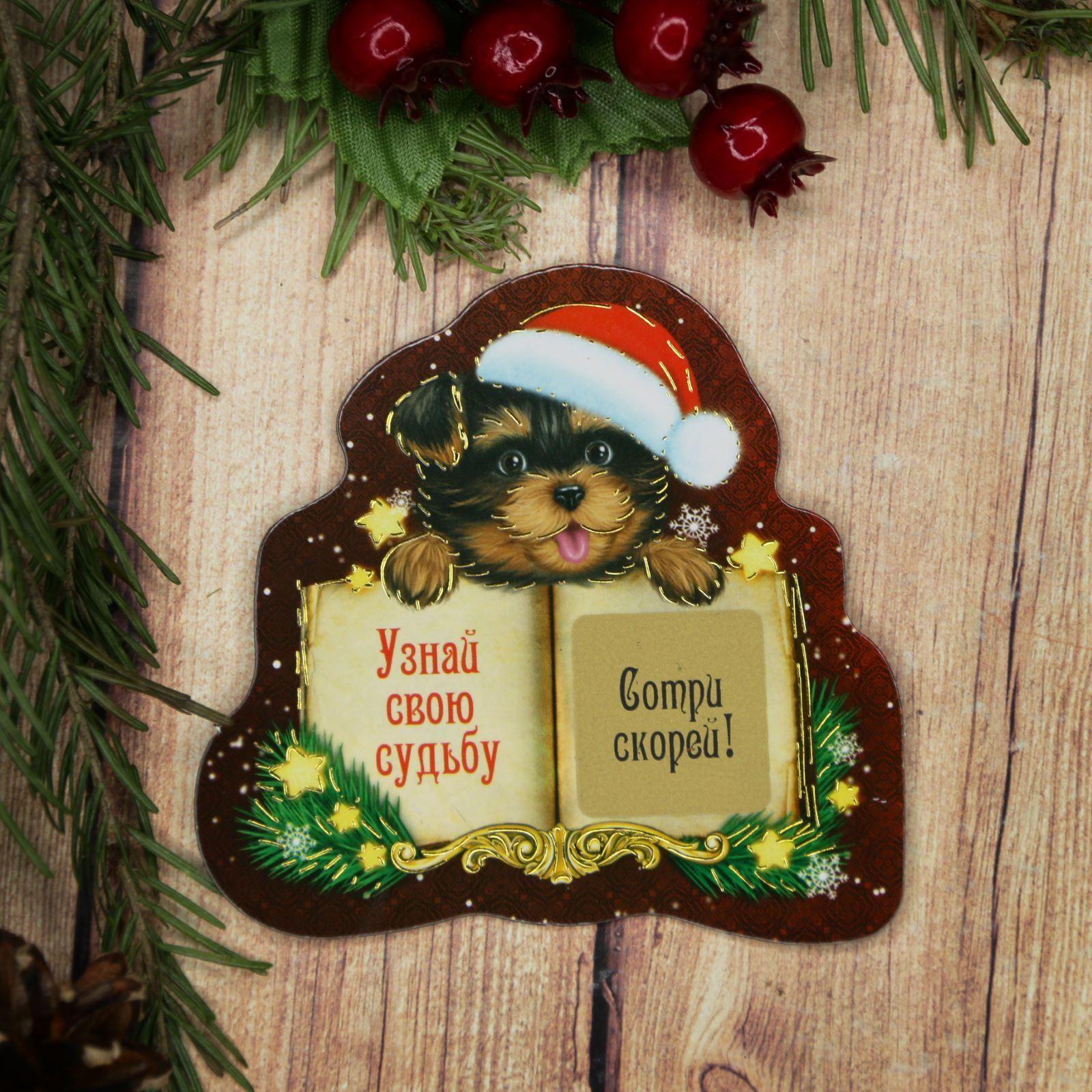 Магнит Sima-land Узнай свою судьбу, со скретч-слоем, 8 х 8 см1989267Порадуйте родных и близких оригинальным сувениром: преподнесите в подарок магнит. С ним даже самый серьёзный человек почувствует себя ребёнком, ожидающим чудо! Создайте праздничное настроение, и оно останется с вами на весь год.