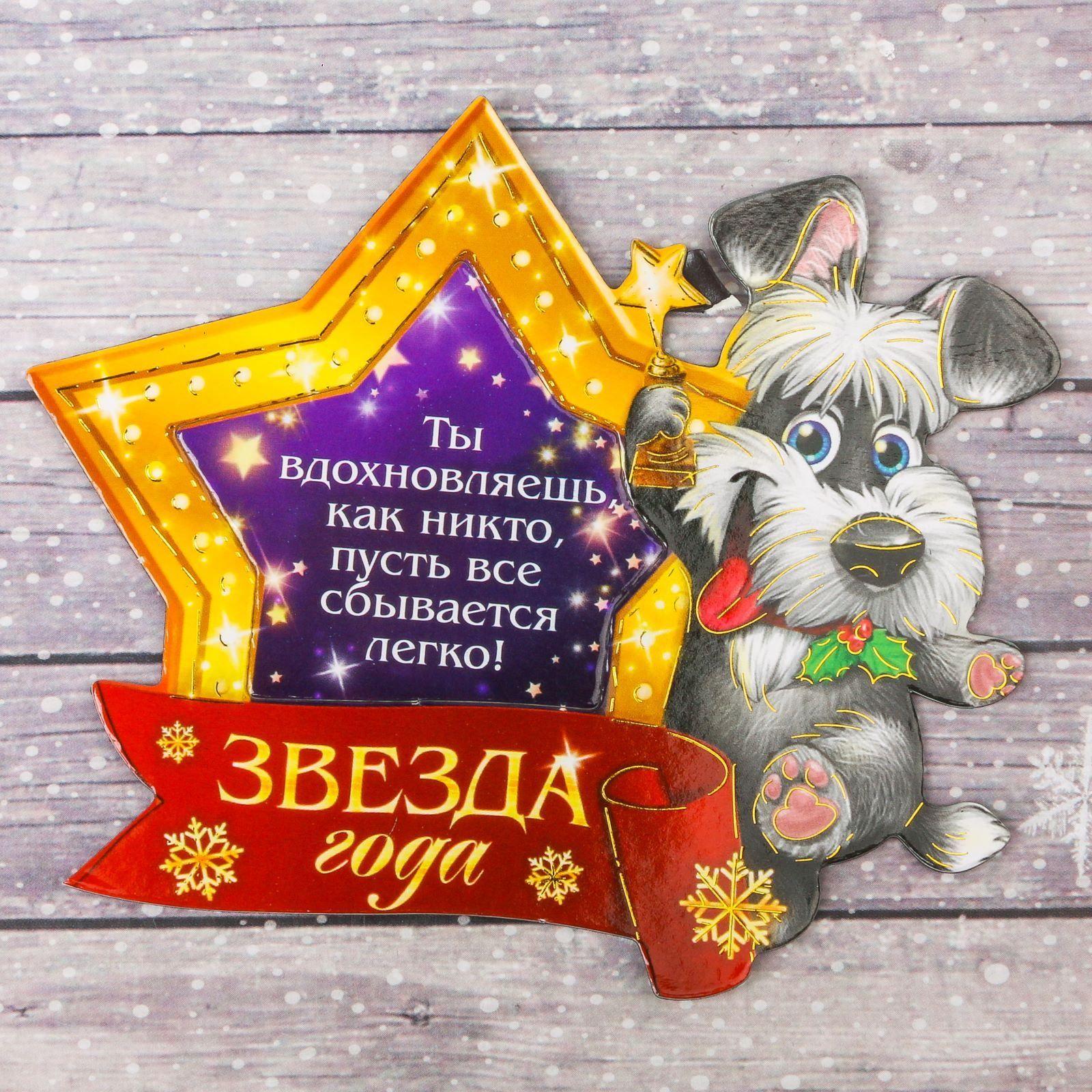 Магнит-фоторамка Sima-land Звезда года, 10,6 х 9 см2002876Порадуйте родных и близких оригинальным сувениром: преподнесите в подарок магнит. С ним даже самый серьёзный человек почувствует себя ребёнком, ожидающим чудо! Создайте праздничное настроение, и оно останется с вами на весь год.