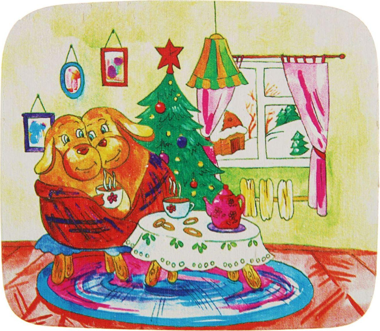Магнит ТД ДМ Уют. Символ года, 7 х 8 см2368021Порадуйте родных и близких оригинальным сувениром: преподнесите в подарок магнит. С ним даже самый серьёзный человек почувствует себя ребёнком, ожидающим чудо! Создайте праздничное настроение, и оно останется с вами на весь год.