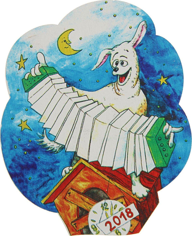 Магнит ТД ДМ Собака с гармошкой. Символ года, 8 х 6,5 см2368026Порадуйте родных и близких оригинальным сувениром: преподнесите в подарок магнит. С ним даже самый серьёзный человек почувствует себя ребёнком, ожидающим чудо!Создайте праздничное настроение, и оно останется с вами на весь год.