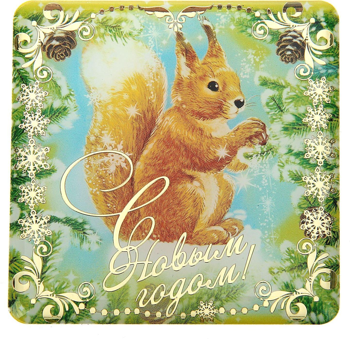 Магнит Sima-land Белочка, 6 х 6 см240516Порадуйте родных и близких оригинальным сувениром: преподнесите в подарок магнит. С ним даже самый серьёзный человек почувствует себя ребёнком, ожидающим чудо! Создайте праздничное настроение, и оно останется с вами на весь год.