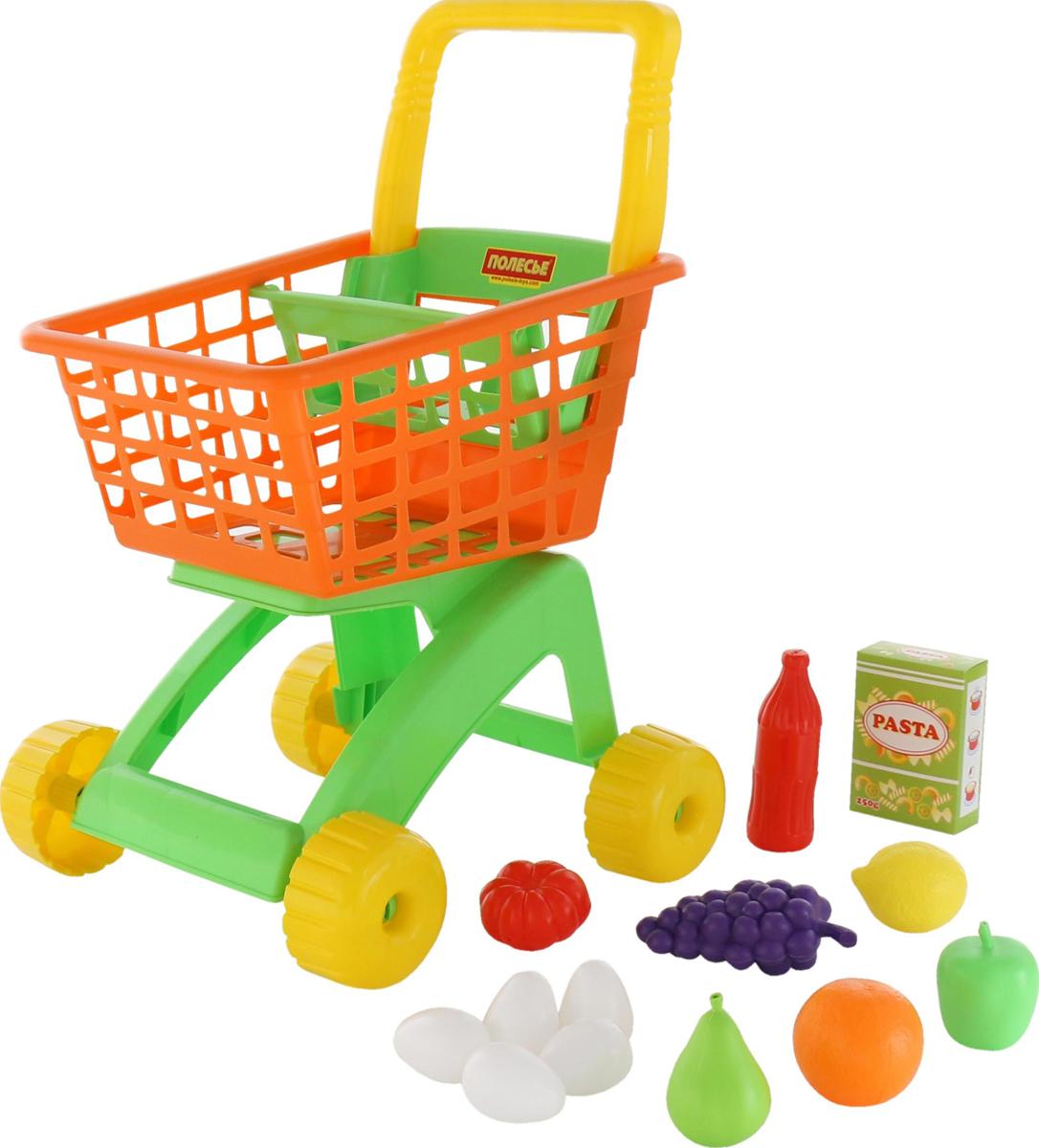 Полесье Игрушечная тележка для магазина с набором продуктов №8 - Сюжетно-ролевые игрушки